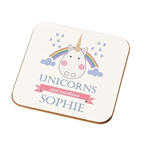 Personalised Unicorn Drinks Coaster