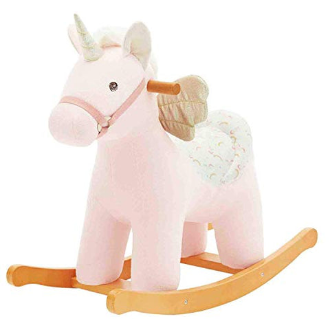 wooden unicorn rocker