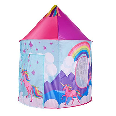 Multicoloured pop up Unicorn tent play house kids