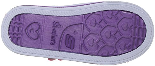 Skechers Baby Girls Trainers, Multicolour (Silver/Hot Pink)