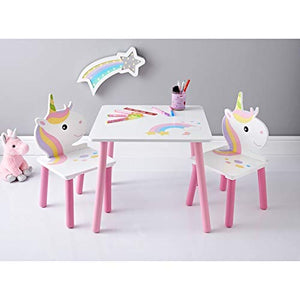 Unicorn table and chair set for kids