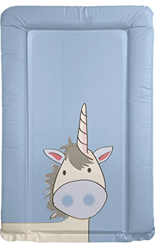 baby boy blue unicorn themed changing mat