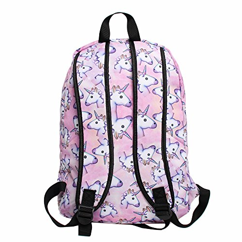 unicorn school bag pink