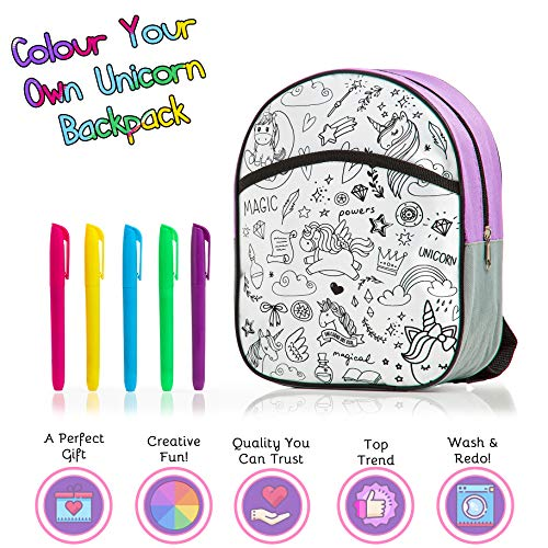 Unicorn backpack colour it yourself kit