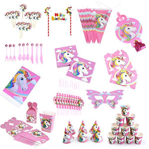 Unicorn Themed Party Pack - (156Pcs)