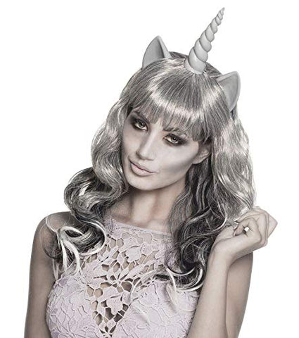 Ghost Unicorn Wig, Grey, Fancy Dress