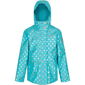 Girls Waterproof Jacket Turquoise