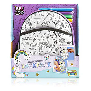 Colour your own unicorn backpack