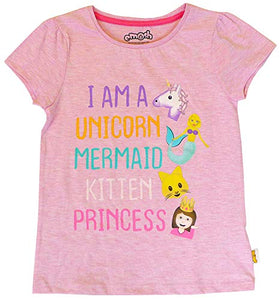 unicorn girls pink t-shirt