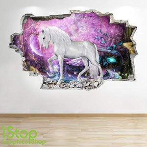 Unicorn vinyl sticker wall