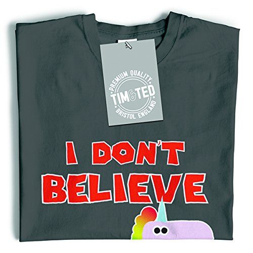 Tim and Ted I Don't Believe In Humans Always Be A Unicorn Fantasy Girly Cute Magic Mythical Cool Geeky Funny Slogan Design Birthday Womens Ladies T-Shirt Cool Birthday Gift Present