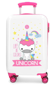kids size unicorn suitcase
