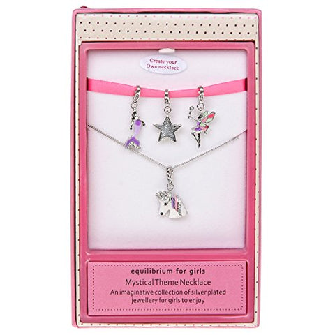 Equilibrium Girls Multi Necklace Mystical Unicorn