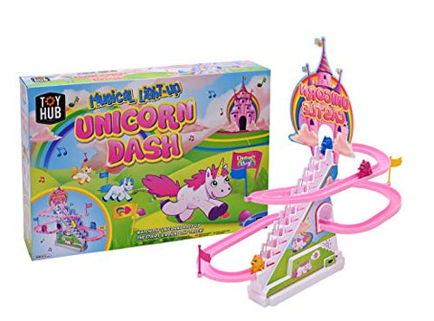Unicorn Dash Light Up Musical Unicorn Race Game Set | Toy Hub