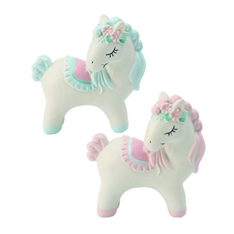 Resin Unicorn Topper White and Pastel Pink / Blue - Reusuable