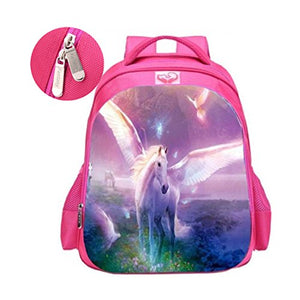 Unicorn School Backpacks, Fantany Fashion Unicorn Rainbow Student Bags for Girls, Unicorn Gifts Travel Luggage Casual Rucksacks for Student