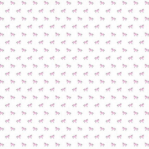 Unicorns Muslin Baby Swaddle Blankets 120 x 120 cm | White & Pink