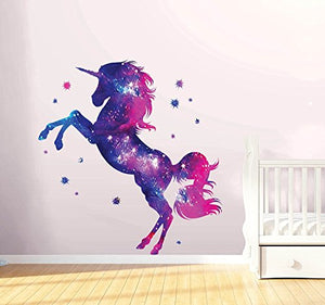 Unicorn Wall Sticker | Fantasy Girls Bedroom Wall Art | Decal