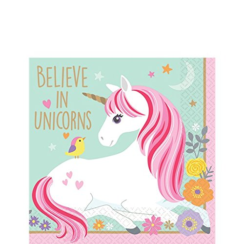 Magical Unicorn Party Beverage Napkins | Pack of 16 | Believe in Unicorns!