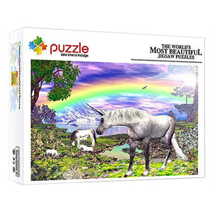 Rainbow Unicorn Fantasy Animal 1000 Piece Jigsaw Puzzles For Kids & Adults | 15x10 Inches