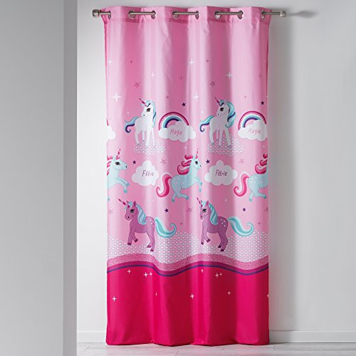 Unicorn curtains for pole