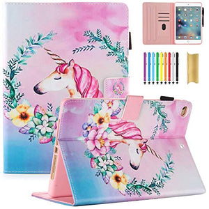 Floral Unicorn iPad Case | Slim Fit | Cute Pattern | Pink