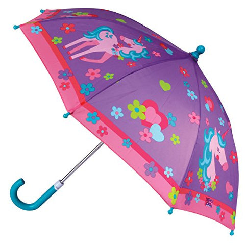 Multicoloured Unicorn Design Umbrella | Unicorn Flowers & Hearts