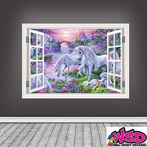 unicorn window large sticker decor