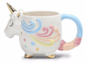 Magical Unicorn-shaped Mug With Beautiful Hand Painted Finish