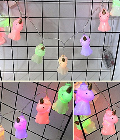 Rainbow Fox LED String Lights Battery Fairy Unicorn Lights colorful Indoor Holiday festival Lights Decoration