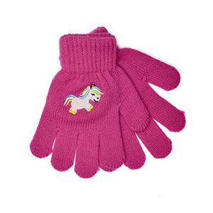 Girls Unicorn Magic Gloves | Pink