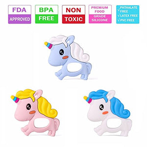 Unicorn BPA Free Silicone Teether For Babies