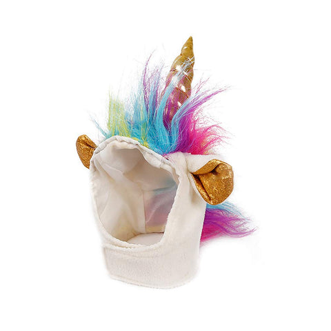 Unicorn Head - Cute Puppy Pet Costume with Gold Horn