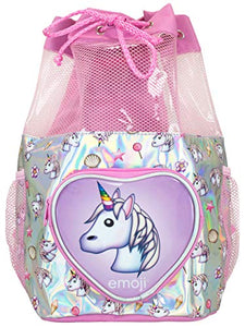 Unicorn Swim PE Kit Bag | Emoji Kids | Pink Silver