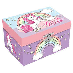 You're Special Unicorn Musical Jewellery Box, 15 x 11 cm Pastel Colours