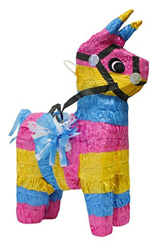 Multi-Coloured Unicorn Donkey Pinata - 1 PC - Party
