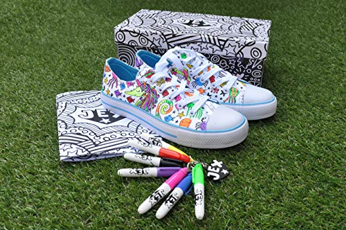 Unicorn JEX colour in yourself trainers children present idea
