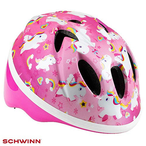 Pink unicorn safety cycling helmet girls