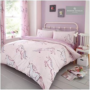 Unicorn & Stars Single Bed Set Pink