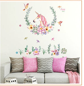 unicorn wall art stickers