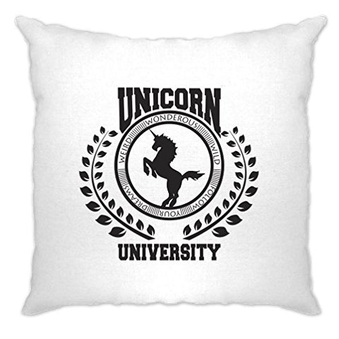 Always Be A Unicorn University Of Magic Witchcraft Printed Design Life Mythical Novelty Funny Cool Art Swag Nerdy Geeky Logo Slogan Sarcastic Cushion Cover Sofa Home Cool Birthday Gift Present