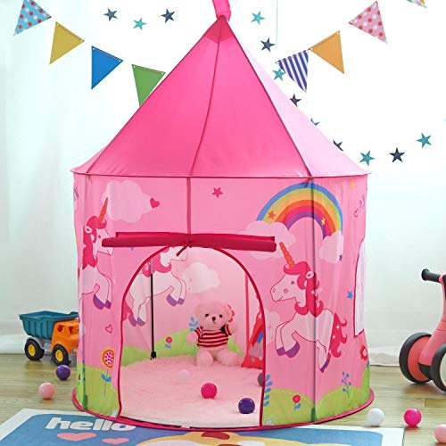 Pop Up Unicorn Play Tent For Girls