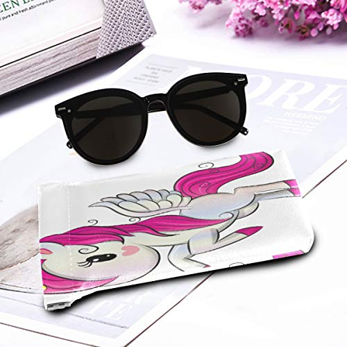 Unicorn pink wings sunglasses pouch