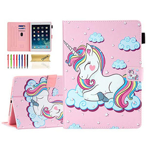 Unicorn Protective Case For Apple iPad | Rainbow Unicorn | Pink
