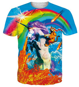 Cool Rainbow Unicorn T Shirt | Colourful Graphic