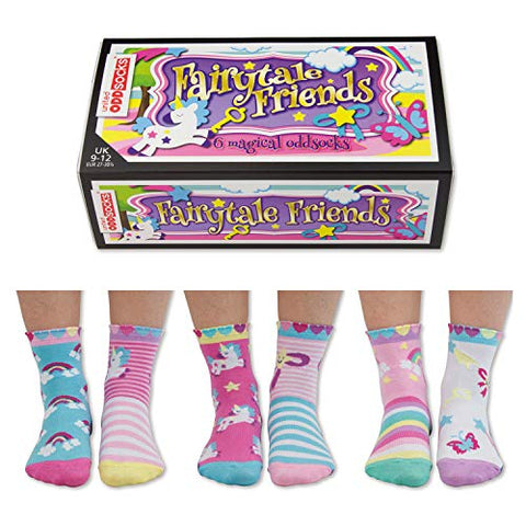 Fairytale Friends | United Oddsocks | 6 Oddsocks For Kids | Unicorn | UK 9-12 EU 27-30.5