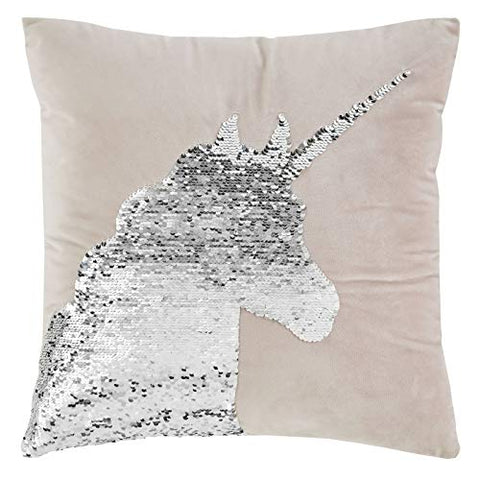 Unicorn Sequin Cushion Cover 43x43cm Pink - Catherine Lansfield