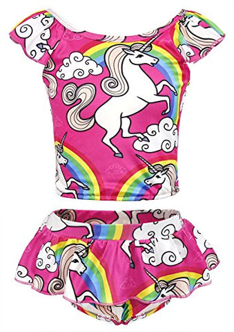 Unicorn tankini pink kids