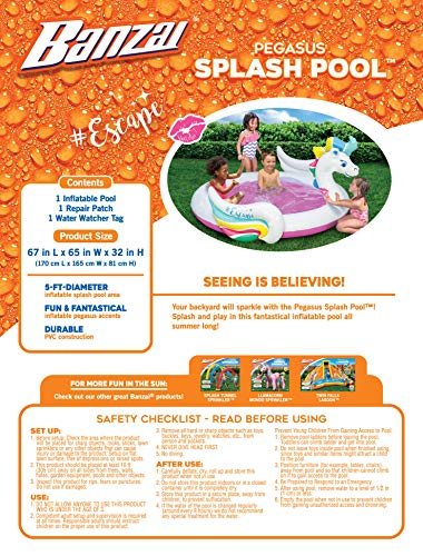 Garden Fun Unicorn Splash Paddling Pool