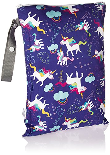 Unicorn and rainbow themed baby changing bag